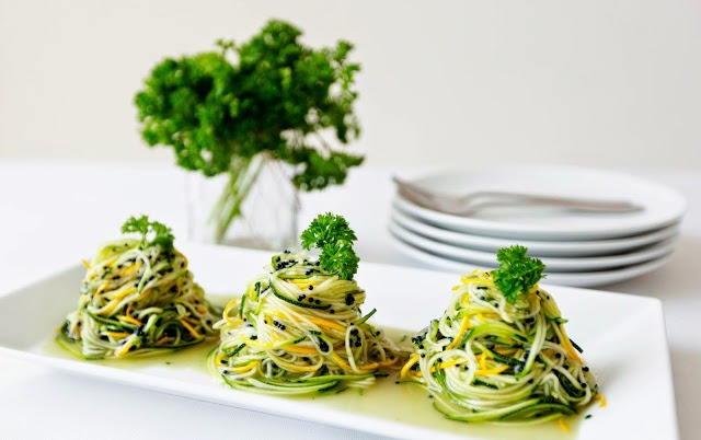 Angel Hair Zoodles with Truffle Oil – Only 3 ingredients