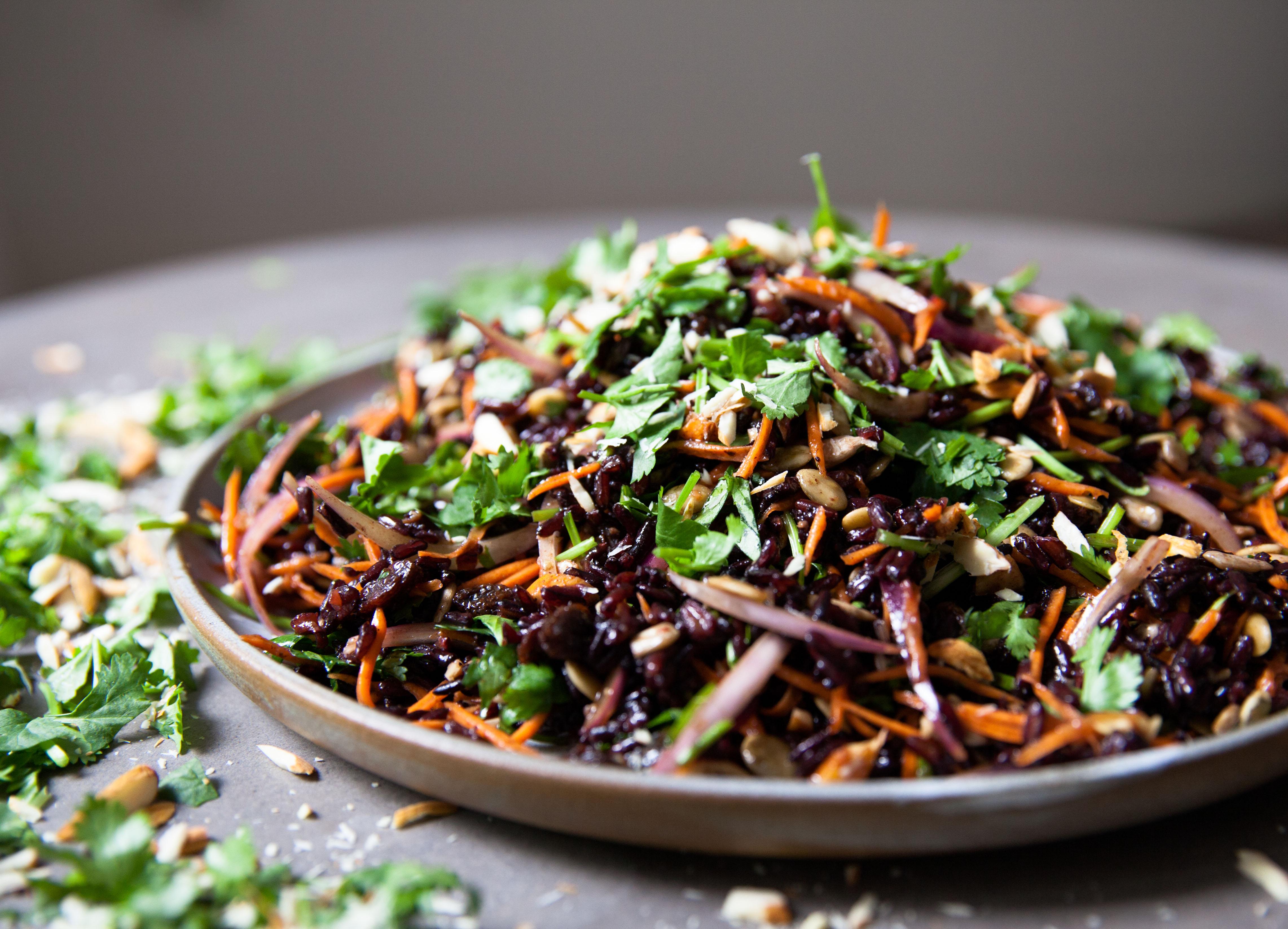 Wild Black Rice Salad