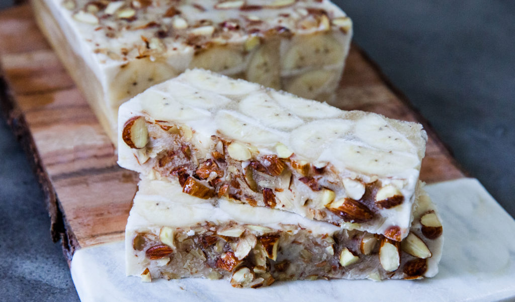 Vietnamese Coconut Banana Ice Cream Bars